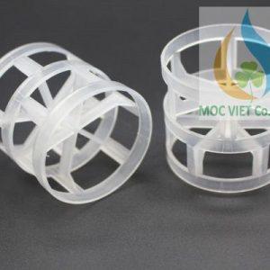 Vật liệu đệm Pall Ring nhựa cho tháp xử lý khí