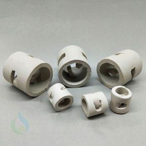 Vòng đệm Ceramic pall ring xử lý khí thải