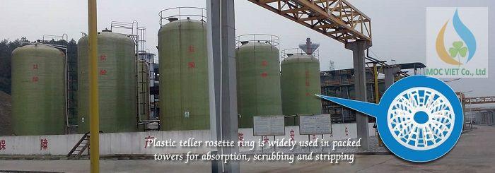 Vòng đệm nhựa Teller sử dung trong công nghiệp hóa chất