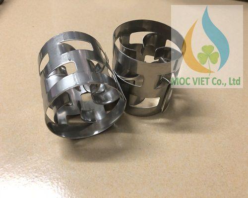 pall ring - vật liệu đệm kim loại cho tháp khí