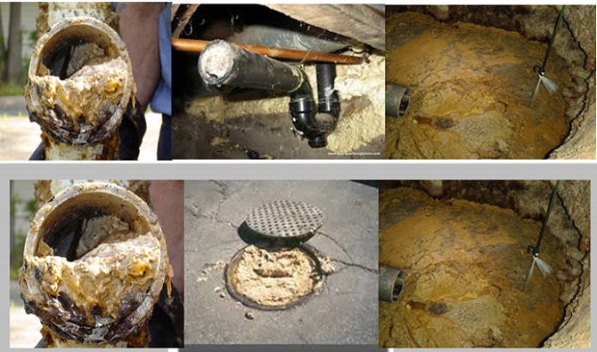 Hố ga đường ống bị kẹt cứng dầu mỡ thải
