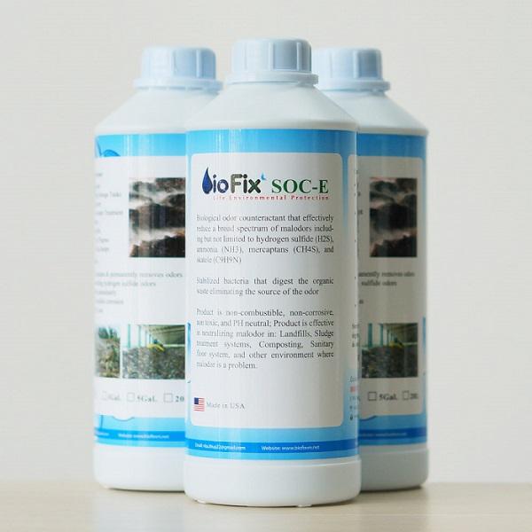 chế phẩm vi sinh khử mùi rác BioFix SOC E