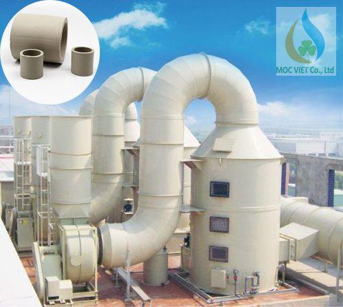 Tháp xử lý khí thải sử dụng gốm Rasching